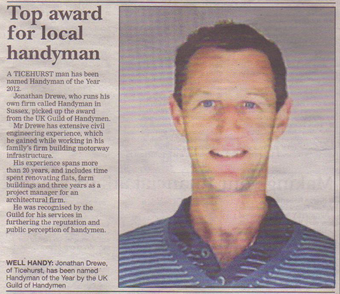 Handy Man in Kent and Sussex Article